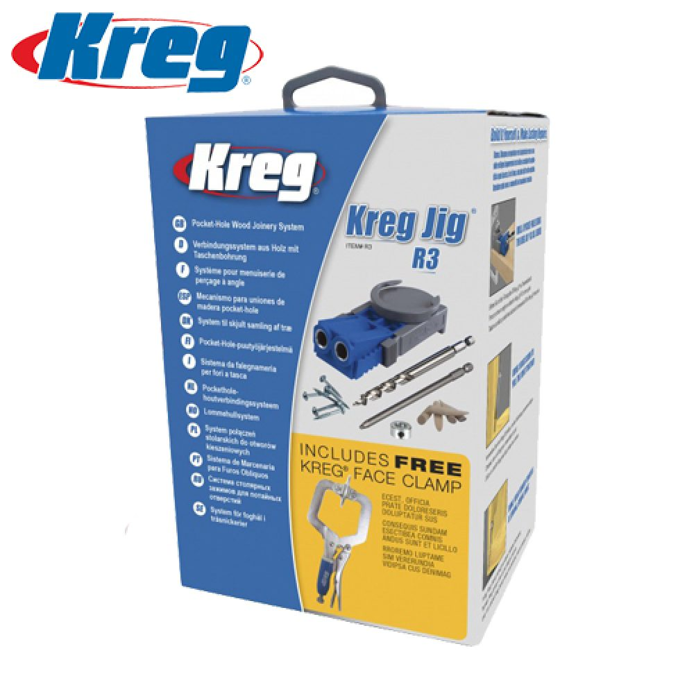 Kreg Metric R3 Jig Pocket Hole System with Free 2″ Face Clamp